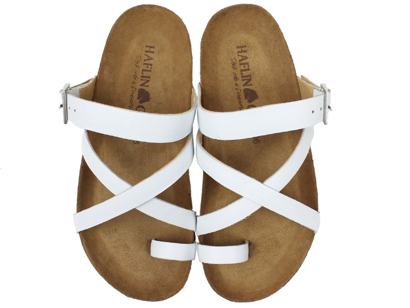 Haflinger Sandals Luna White upper view