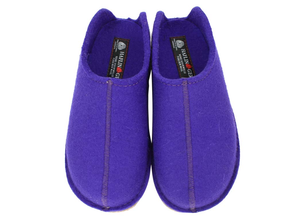 Haflinger Slippers Smily Violet upper view