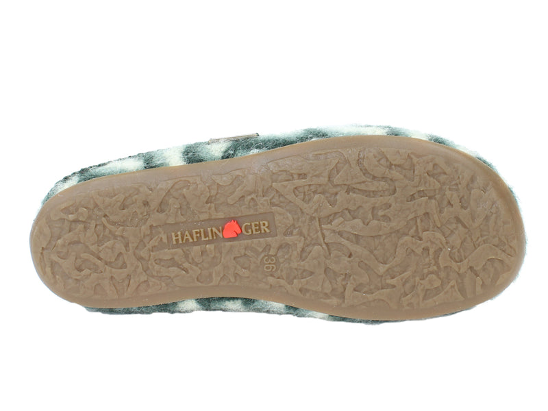 Haflinger Slippers Everest Cascade Kiwi sole view