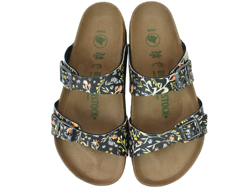 Birkenstock Sandals Sydney Watercolour Flowers upper view