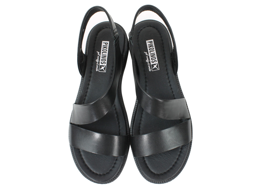 Pikolinos Women Sandals Moraira W4E-0834 Black upper view