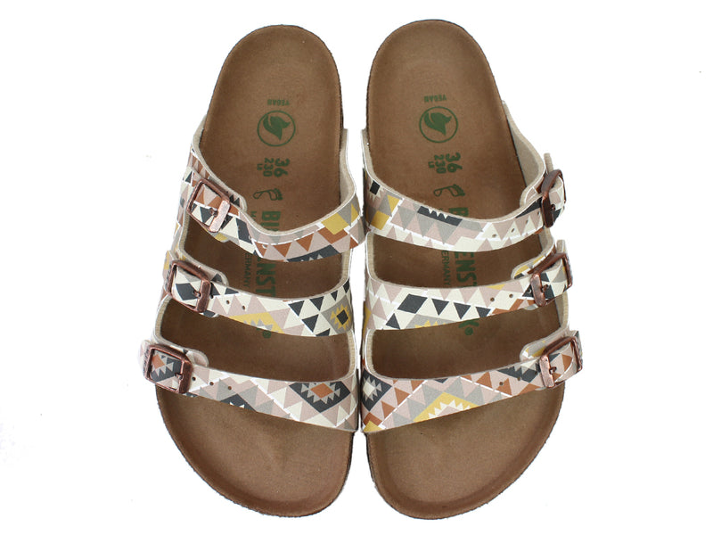 Birkenstock Sandals Florida Ethno Mocha upper view
