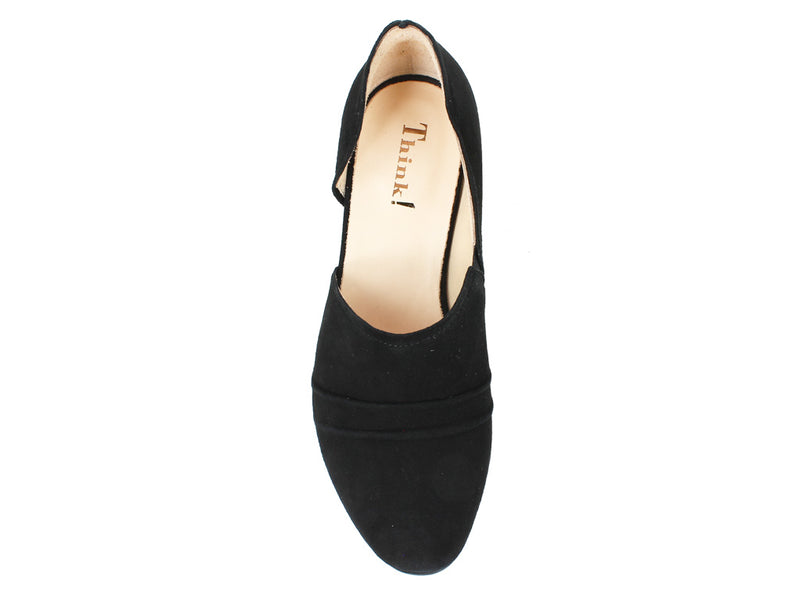 Think Women Shoes Aida 86244-00 Black top view