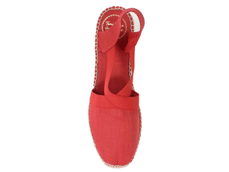 Toni Pons Sandals Ter Red top view