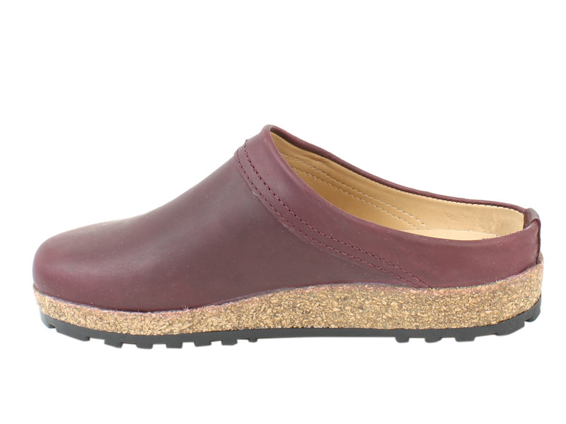Haflinger Clogs Malmo Bordeaux side view