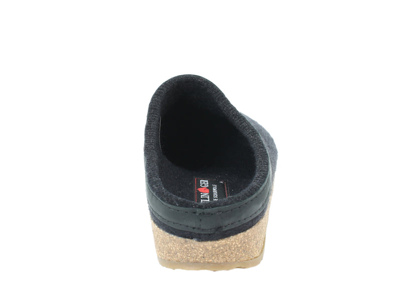 Haflinger Clogs Grizzly Torben Black back view