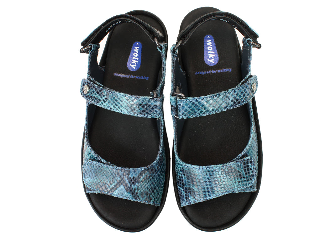 Wolky Sandals Rio Turquoise UPPER VIEW
