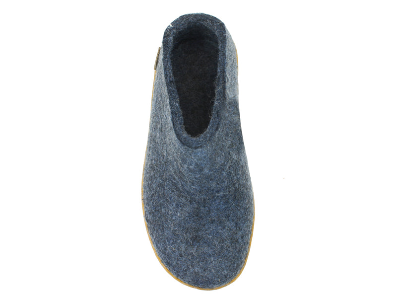 Glerups Slippers Jeans Rubber Sole top view