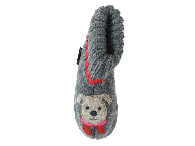 Haflinger Children's slippers Kisses Anthracite RIGHT FOOT
