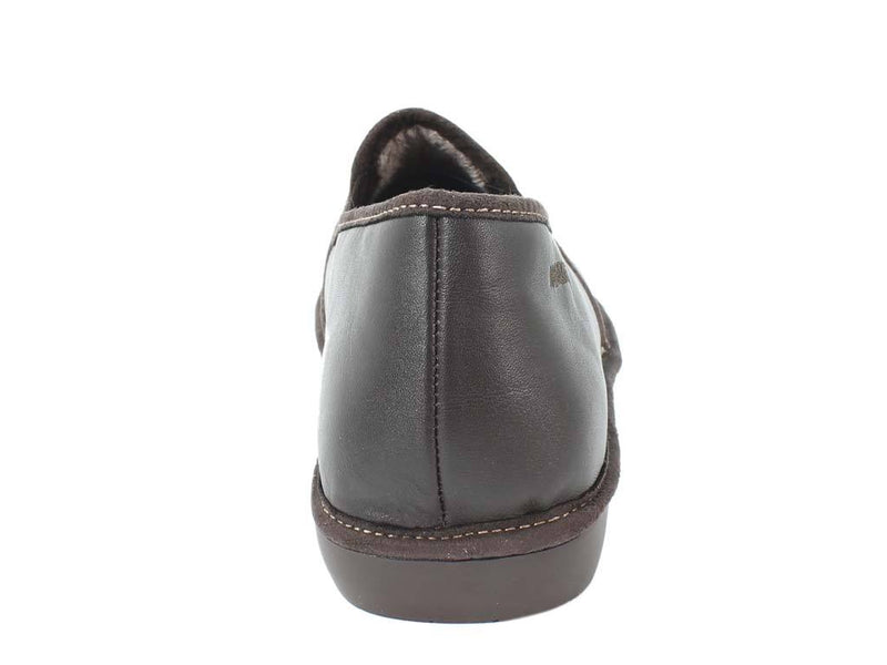 Nordikas Men Slippers Closed Moka back view