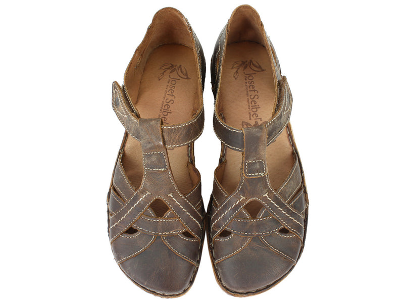 Josef Seibel Women Sandals Rosalie 29 Brandy upper view