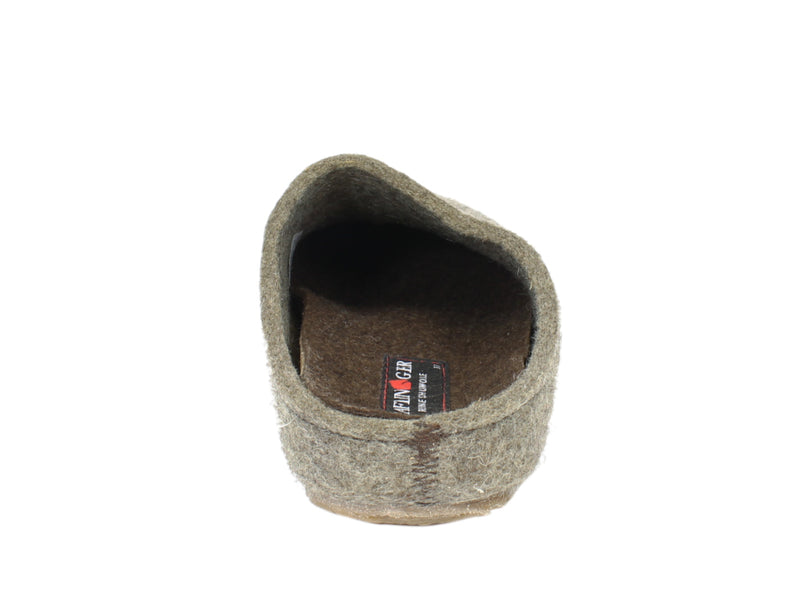 Haflinger Clogs Grizzly Michl Torf back view