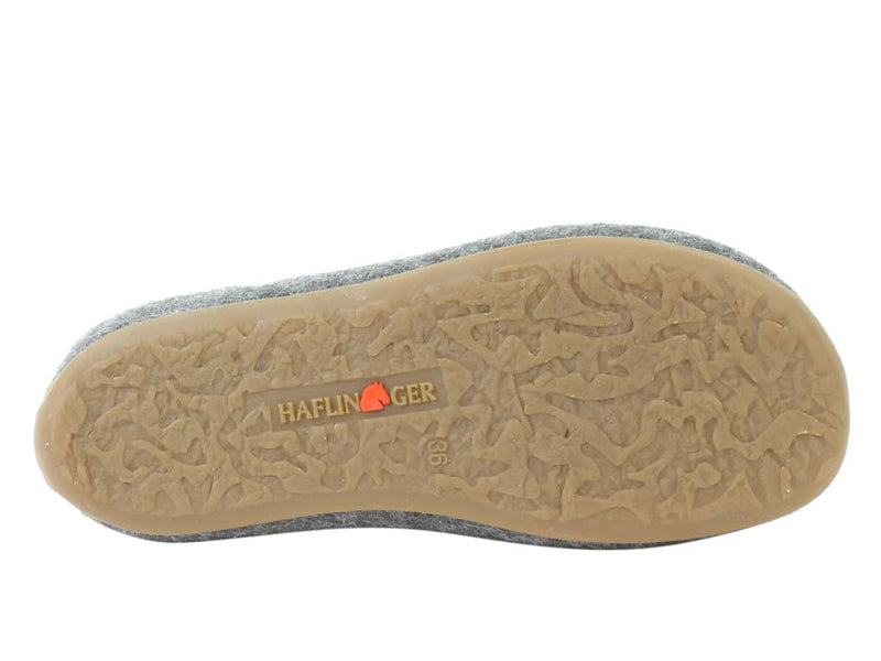 Haflinger Slippers Everest Butterflies Anthracite sole view