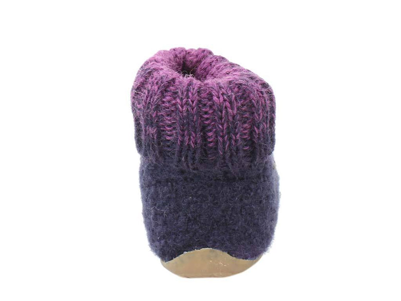 Haflinger Children's slippers Iris Lavender back view