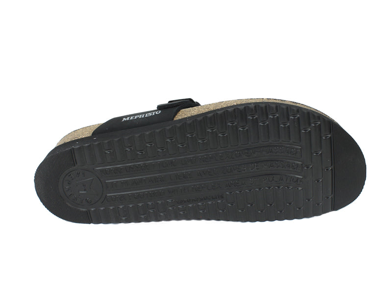 Mephisto Sandals Helen Nubuck Black sole view