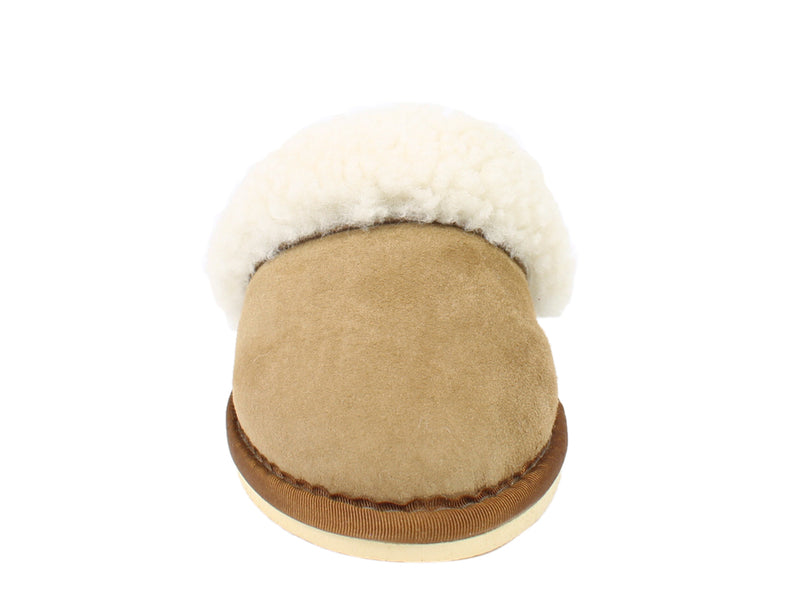 Celtic & Co Slippers Sheepskin Turnback Spice front view