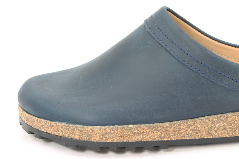 Haflinger Leather Clogs Malmo Navy (Second Quality)