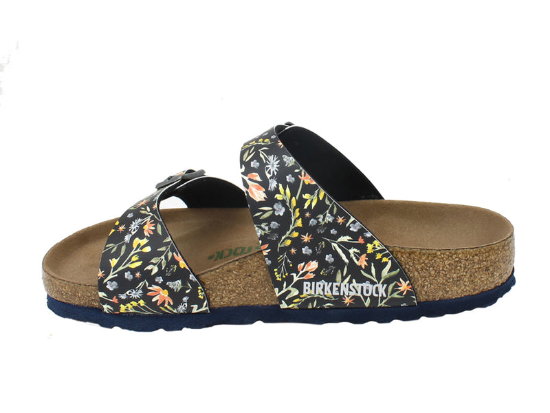 Birkenstock Sandals Sydney Watercolour Flowers side view