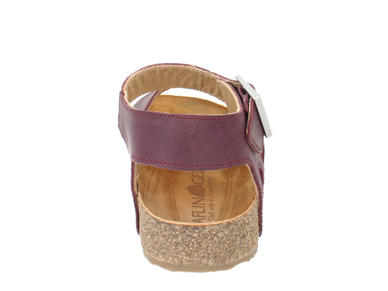 Haflinger Sandals Rebecca Bordeaux back view