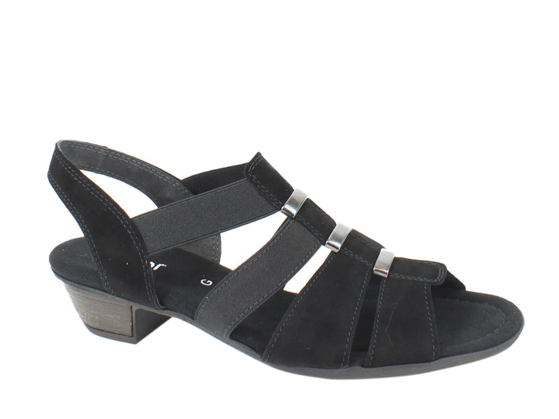 Gabor Women Sandals Joan 42.472 Black side view