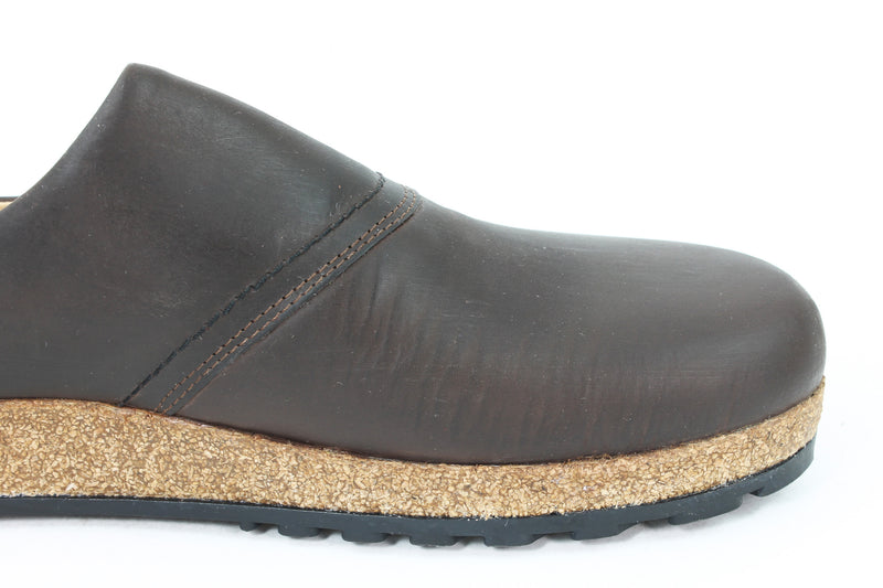 Haflinger Leather Clogs Esbjerg Brown (Second Quality)