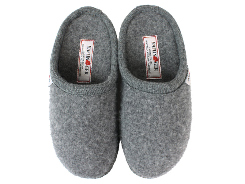 Haflinger Slippers Cashmere Anthracite upper view
