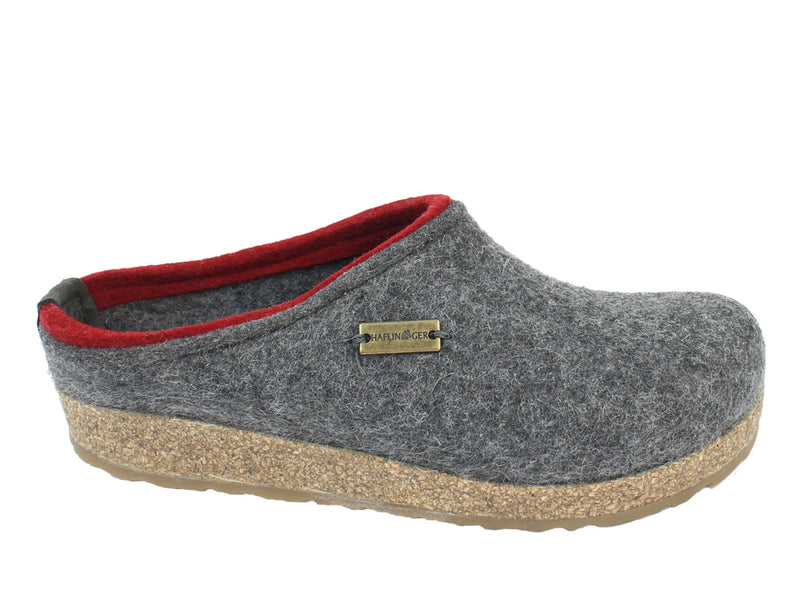 Haflinger Felt Clogs Grizzly Kris Anthracite side view