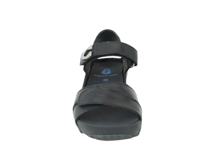 Wolky Women Sandals Epoch Black front view