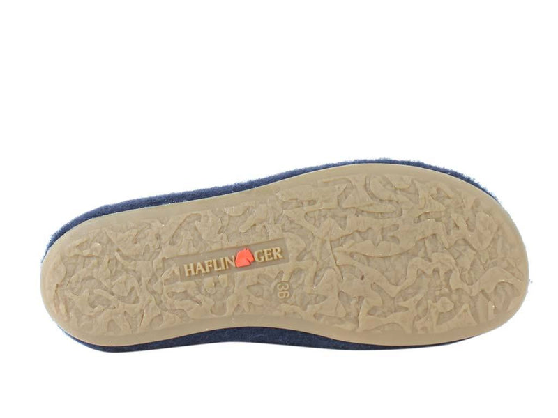 Haflinger Slippers Everest Classic Ocean sole view