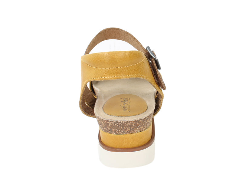 Josef Seibel Sandals Clea 01 Gelb Yellow back view