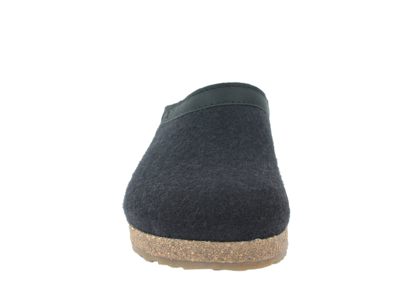 Haflinger Clogs Grizzly Torben Black front view