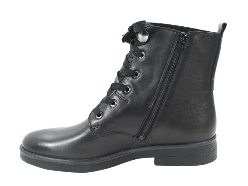 Legero Boots Soana 09689-01 Black Leather SIDE VIEW