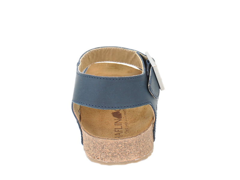 Haflinger Sandals Rebecca Navy back view