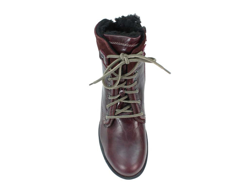 Josef Seibel Boots Sandra 83 Bordo upper view