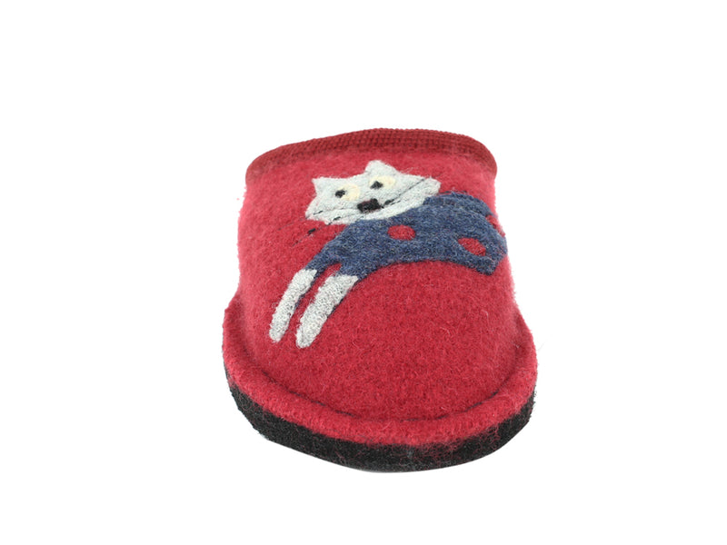 Haflingher Slippers Flair Cucho Cat Paprika front view