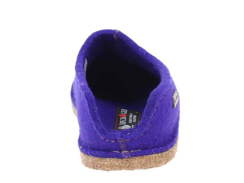 Haflinger Slippers Smily Violet back view