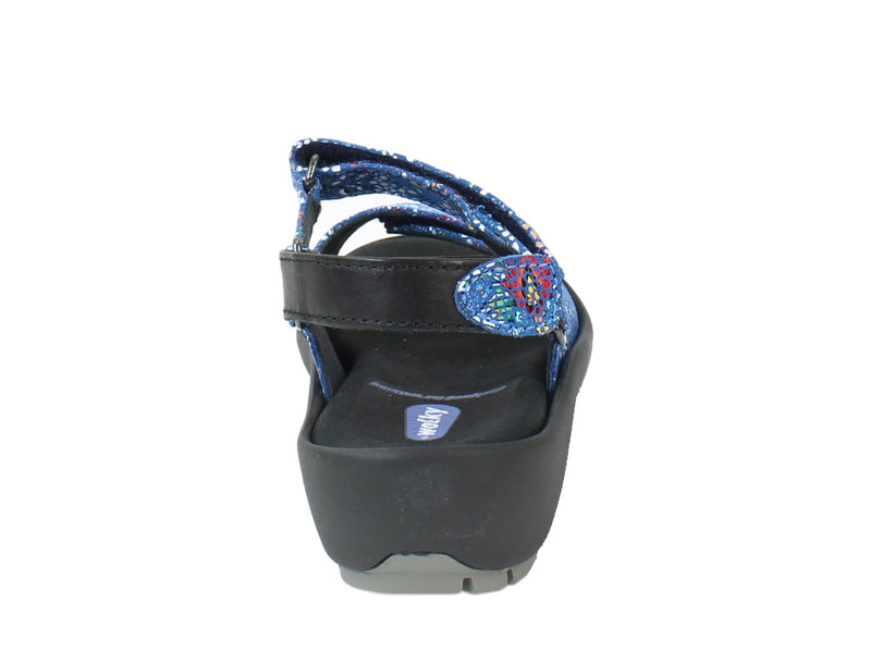 Wolky Women Sandals Rio Mosaic Royal Blue back view