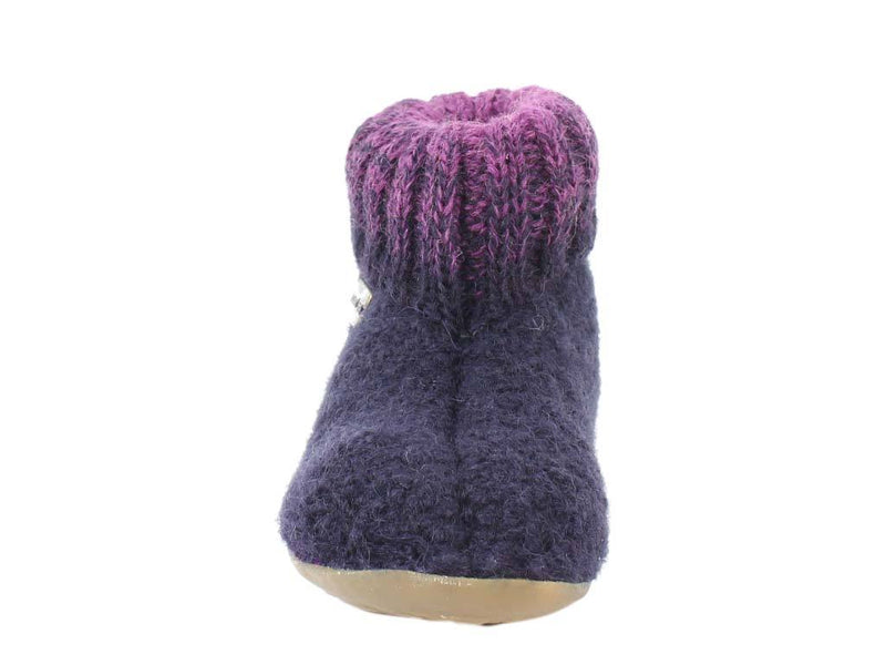 Haflinger Children's slippers Iris Lavender front view