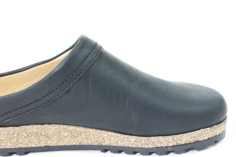 Haflinger Leather Clogs Malmo Black (Second Quality)