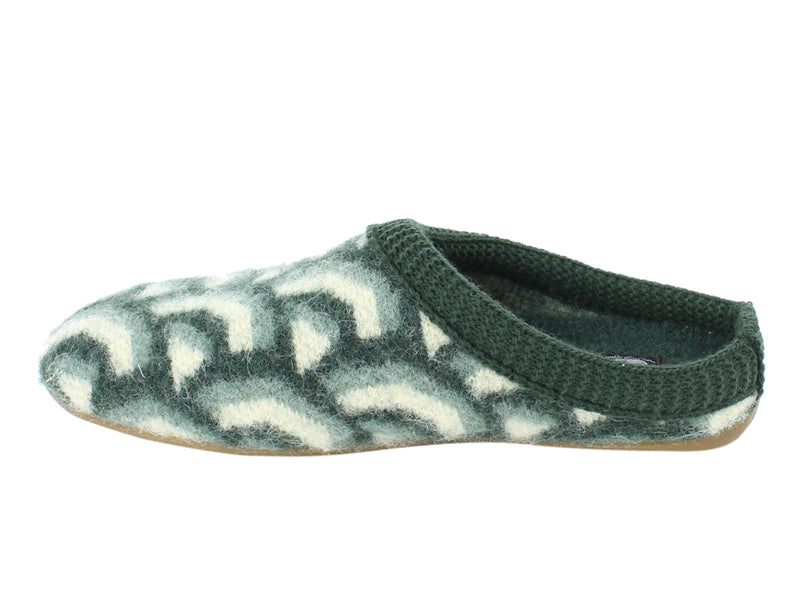 Haflinger Slippers Everest Cascade Kiwi side view