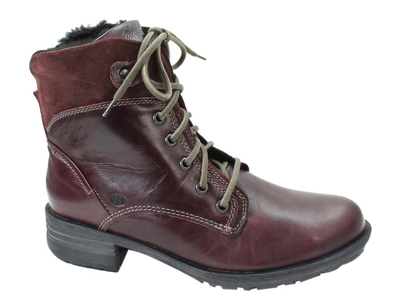 Josef Seibel Boots Sandra 83 Bordo Red side view