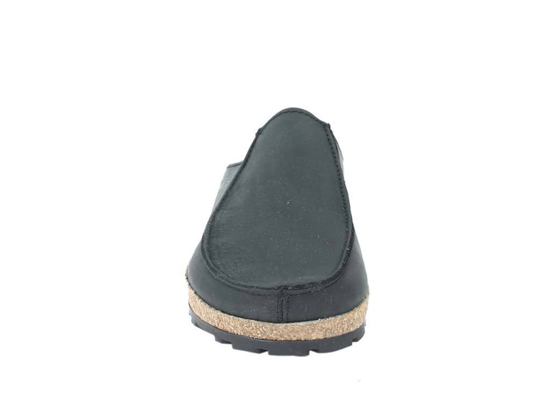 Haflinger Leather Clogs Kolding Black front view
