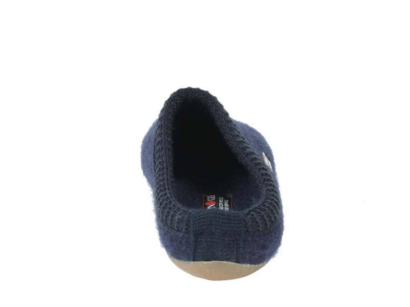 Haflinger Slippers Everest Classic Ocean back view