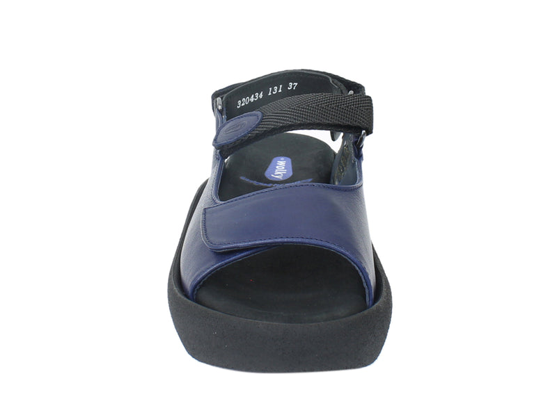 Wolky Sandals Jewel Navy Blue front view