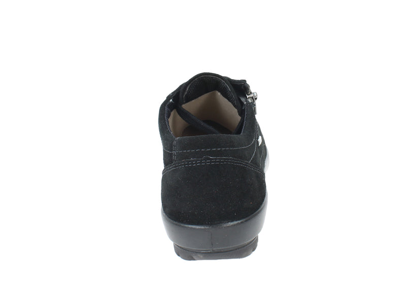 Legero Trainers Tanaro 00616 Black zip back view