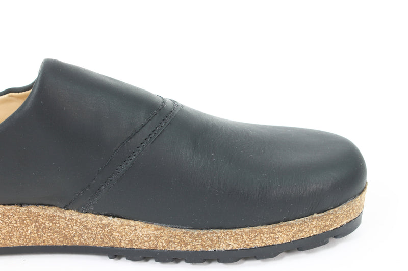 Haflinger Leather Clogs Esbjerg Black (Second Quality)