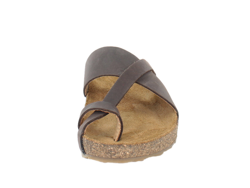 Haflinger Sandals Jack Brown front view