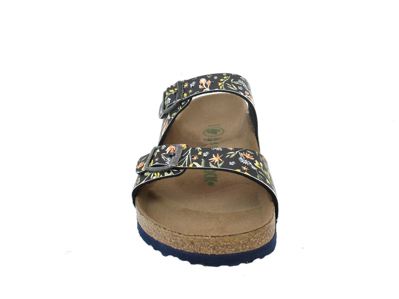 Birkenstock Sandals Sydney Watercolour Flowers front view