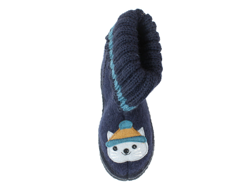 Haflinger Children's slippers Kisses ocean left foot