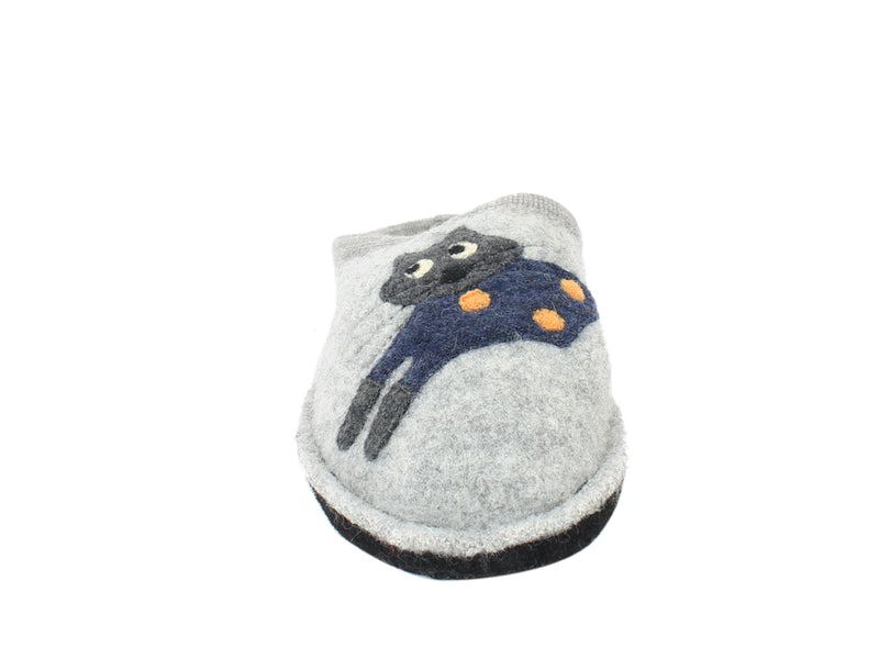 Haflinger Slippers Flair Cucho Cat Grey sole view